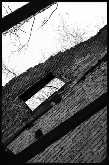 """Ruine der Wiesenburg, ehem. Gebäudekomplex """"Berliner Asylverein für Obdachlose"""", Gesundbrunnen, Berlin"""